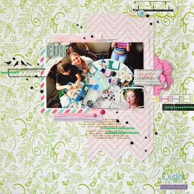 layout by Marina Gridasova @akonitt #eyeletoutlet #by_marina_gridasova #washitape #enameldots