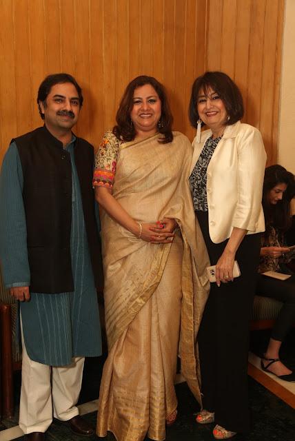 Publisher Wisdom Tree Shobit Arya, Former National Secretary BJP Ms. Vani Tripathi Tikoo  and Bubbles Sabharwal