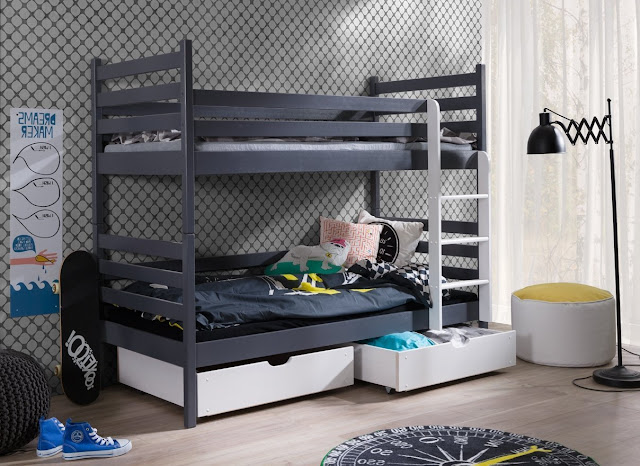 bunk bed with storage modern kids room