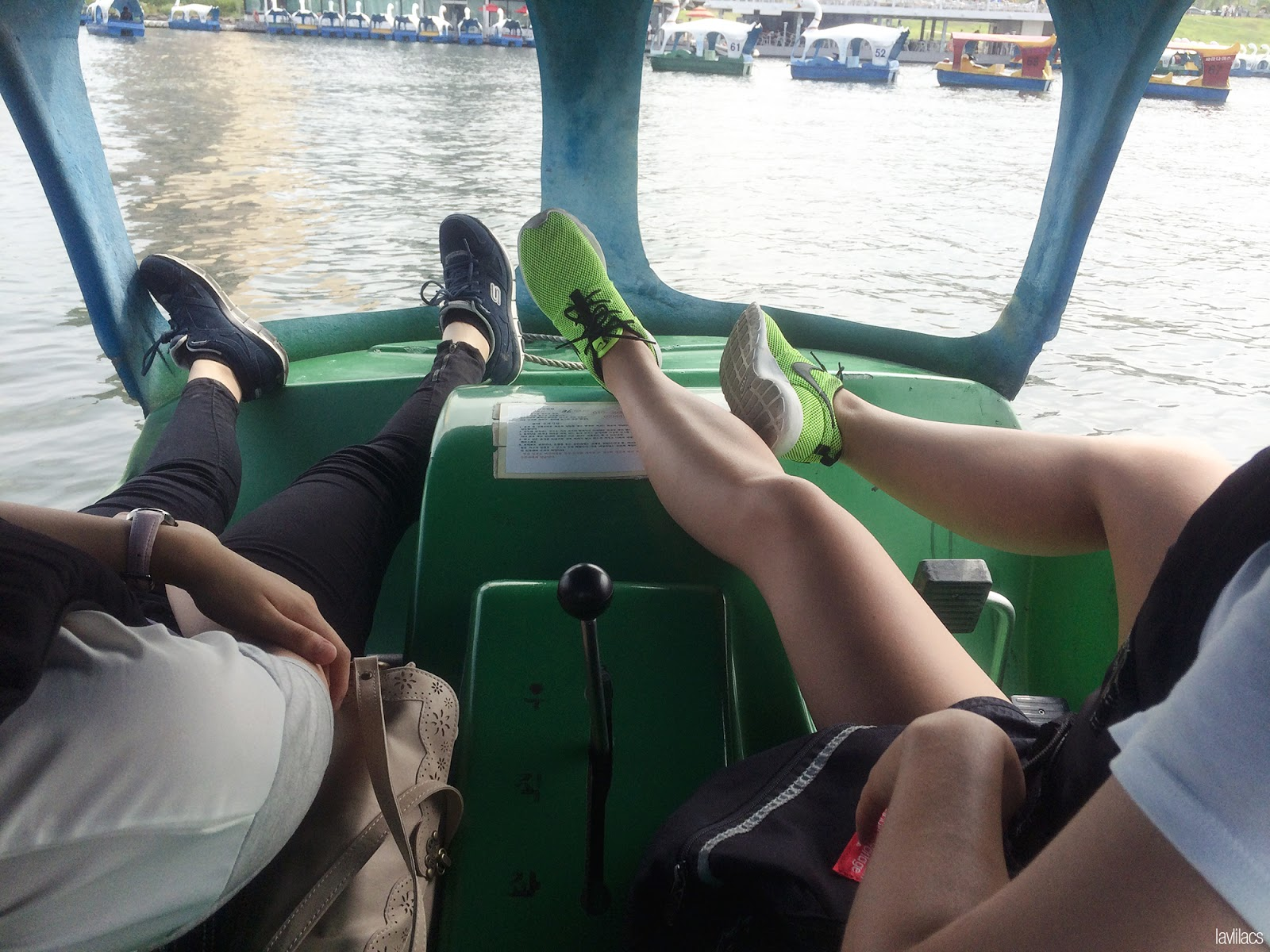 Seoul, Korea - Summer Study Abroad 2014 - Yeouido Park - Han River - tired out from swan pedal boat