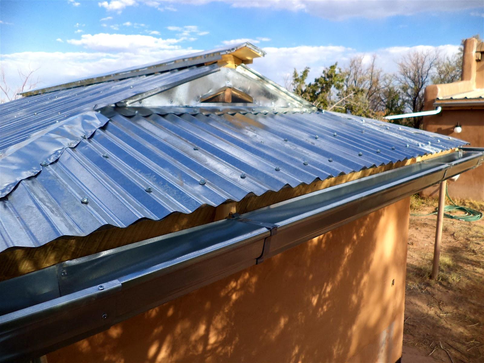 Big Roof Ventilator : Alt build building a well house corrugated