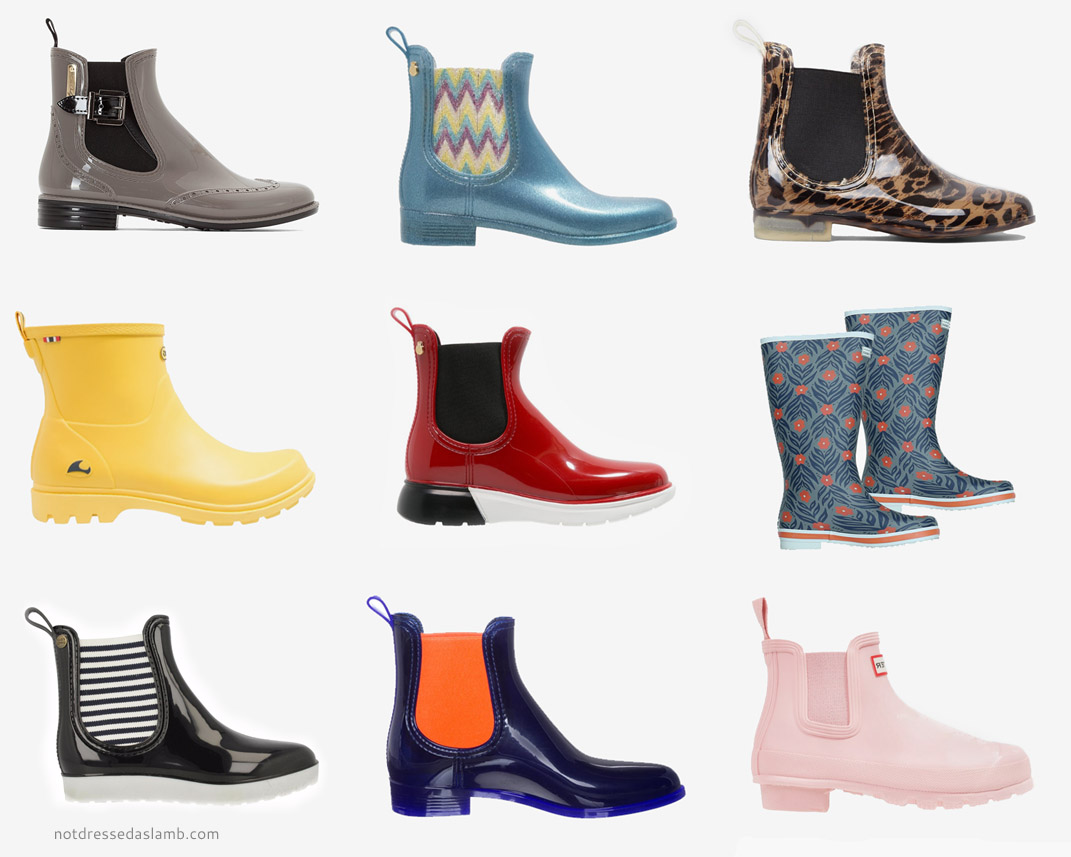 Capsule Wardrobe Pieces - 18 Stylish Wellies to Shop