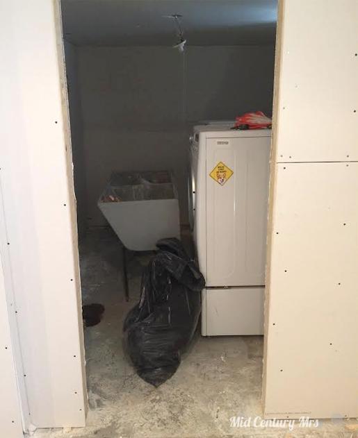 Mid Century Basement: Mid Century Mrs: Basement: Drywall