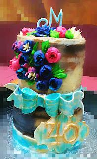 tarta buttercream, tarta 40 años