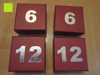 keine Unterscheidung und doppelt: Adventskalender als piratige rustikale Schatztruhe - 24 einzelnen Schatzboxen - Ideal für den Advent