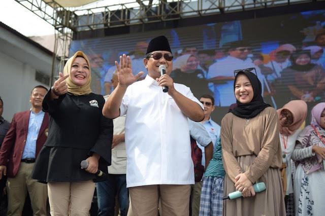 Nissa Sabyan Nyanyi Maulana, Prabowo Joget Gatot Kaca