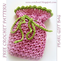 free crochet patterns, how to crochet, gift bag, drawstring bag,