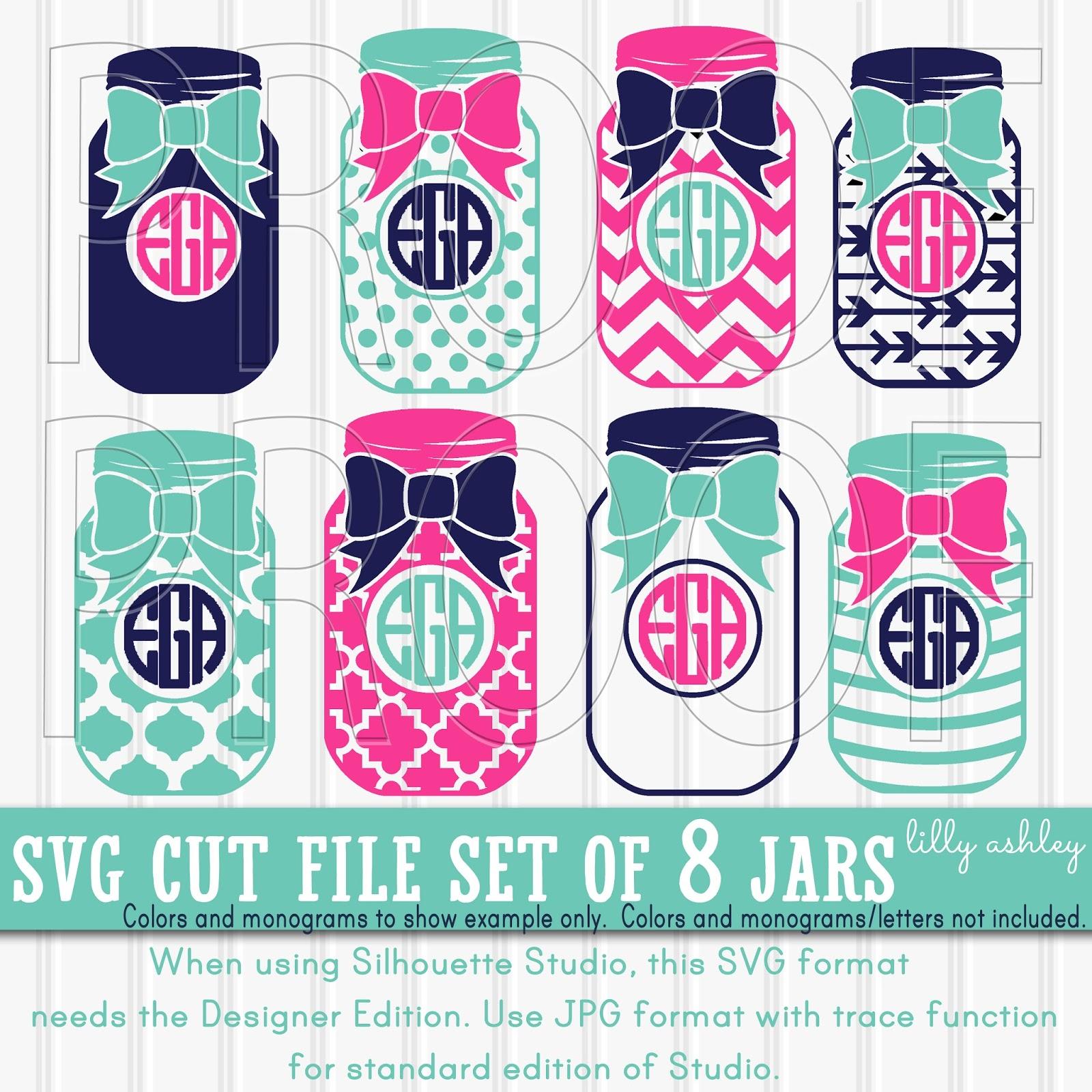 Make It Create Free Cut Files And Printables Free Mason Jar Svg Monogram Svg