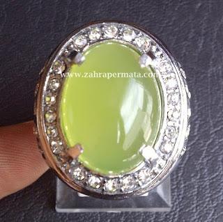 Cincin Batu Permata Green Chalcedony - ZP 389