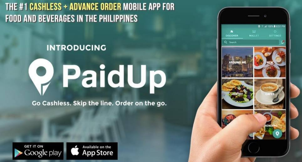 PaidUp: Cashless Mobile Wallet Designed for Restaurants and Cafes
