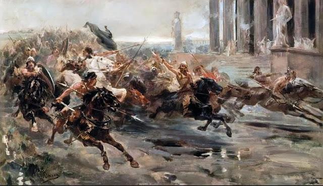 Boceto de La invasión de los bárbaros que se conserva en el museo Ulpiano García