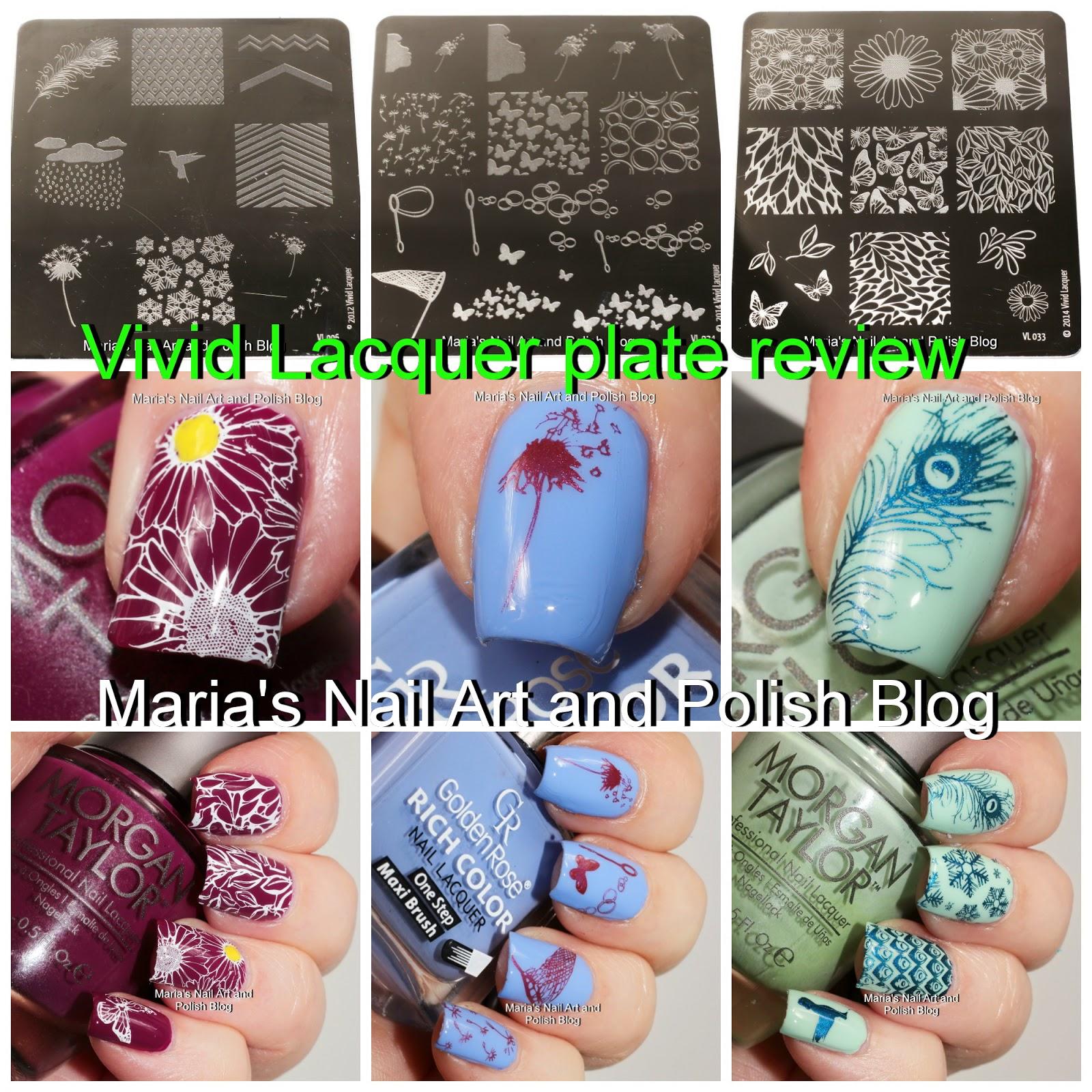 Marias Nail Art and Polish Blog: Vivid Lacquer stamping plates VL ...