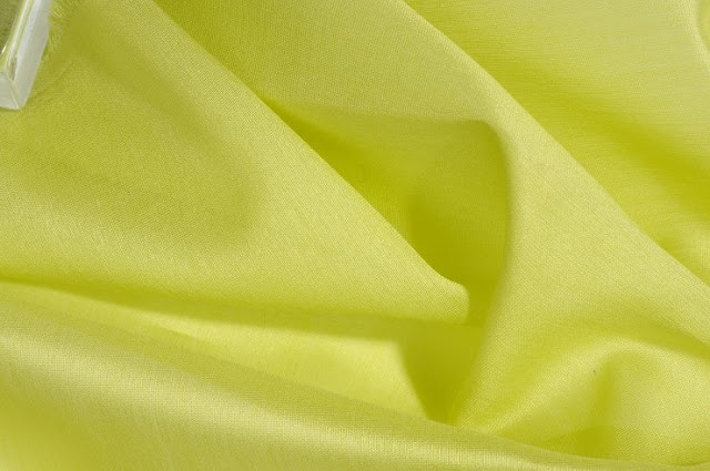 Lime Green Cotton Silk Fabric