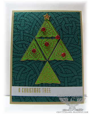 CraftyColonel Donna Nuce for OCC Merry Making class, Club Scrap Woven Strands stamps and DP