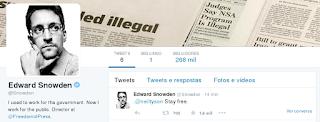 Snowden no Twitter - 260 mil seguidores em 2 horas - Téchne Digitus