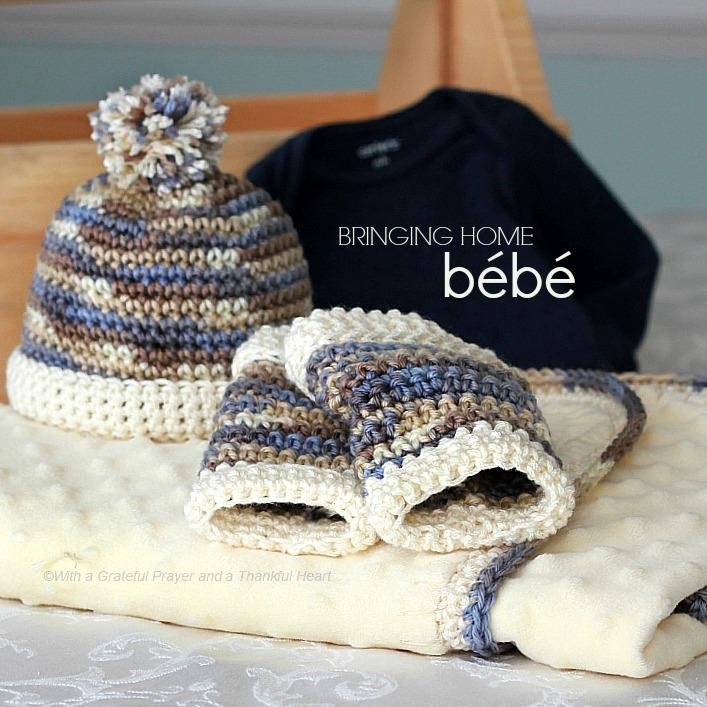 Infant Crochet Leg Warmers Baby Beanie Grateful Prayer