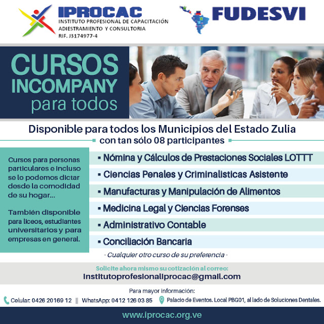 Cursos in company IPROCAC