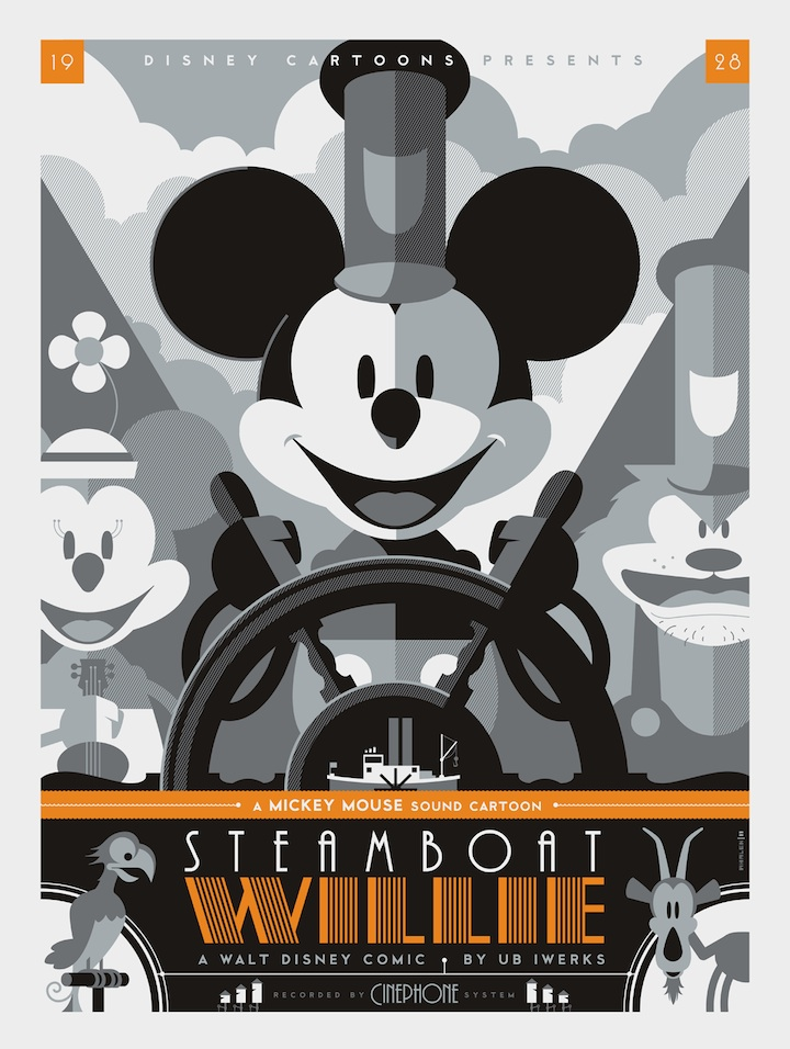 The Blot Says Steamboat Willie Screen Print By Tom Whalen