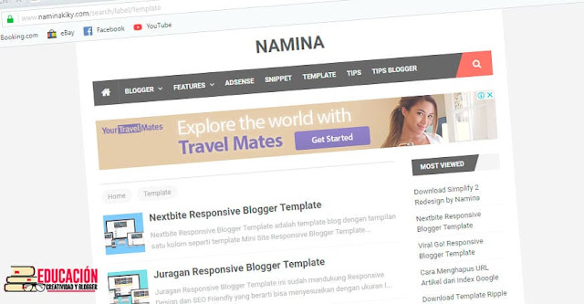 plantillas blogger profesionales gratis naminakiky