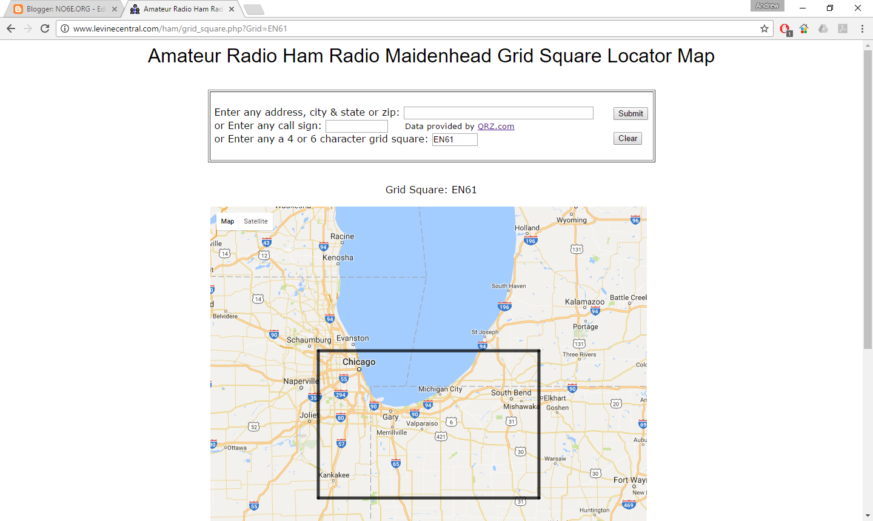 NOEORG JTHF Magic - Us maidenhead grid square map