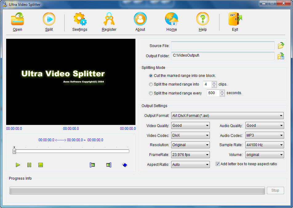 ultra video splitter 5.01 dvd vcd cutter full