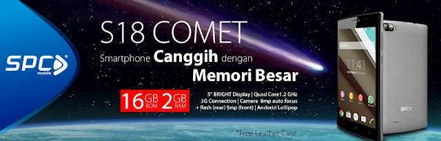 SPC S18 Comet, Smartphone Sejutaan Quad Core RAM 2GB