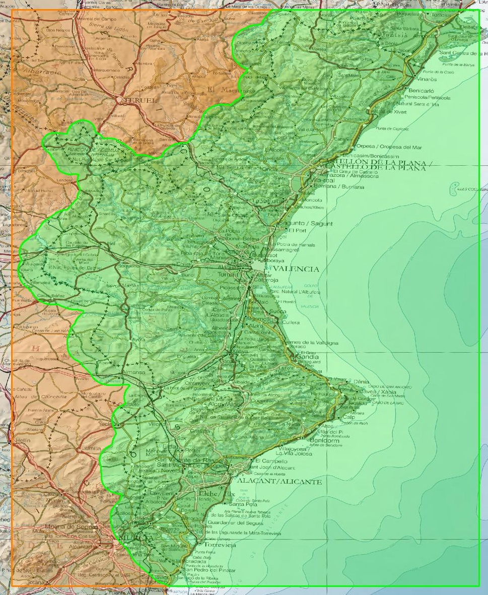 Mapa Topografico Comunidad Valenciana.Cartografia Digital Topovalencia Para Garmin