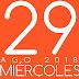 AGENDA MIÉRCOLES 29AGO 2018