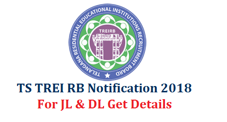 TS TREI-RB Telangana Gurukula JL DL Recruitment Notification 2018 Online Application @www.treirb.org  Telangana Residential Eduactional Institutions Recruitment Board Notification is out for Recruitment of Junior Lecturers Degree Lecturers in the Gurukula Residential Colleges in Telangana. Detailed Notification for JL and DL Posts has been issued by the Society which contains Eligibility criterial Educational and Professional Qualifications Mode of Application Official website www.treirb.org to Submit Online Application form. You may aware of Syllabus Exam Pattern How to Upload Application Form by going through the Notification here under ts-trei-rb-telangana-gurukula-jl-dl-Notification-apply-upload-submit-online-application-form-treirb.org
