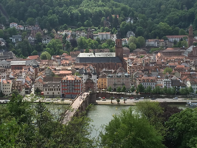 Heidelberger Altstadt von oben betrachtet