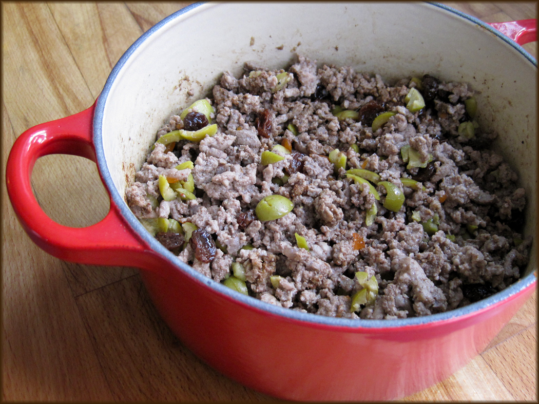 Picadillo cooking