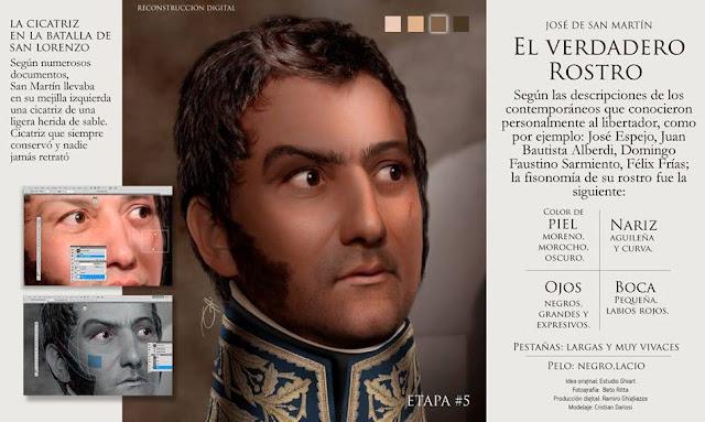 San Martín su rostro verdadero