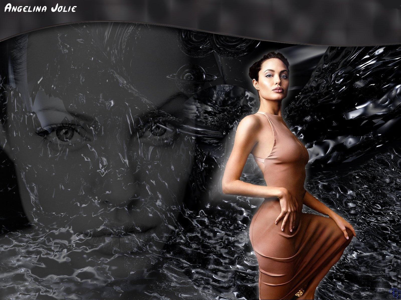 Angelina Jolie Naked Wallpaper