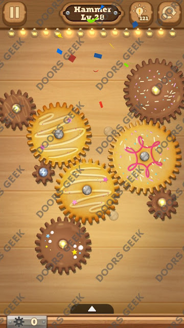 Fix it: Gear Puzzle [Hammer] Level 28 Solution, Cheats, Walkthrough for Android, iPhone, iPad and iPod