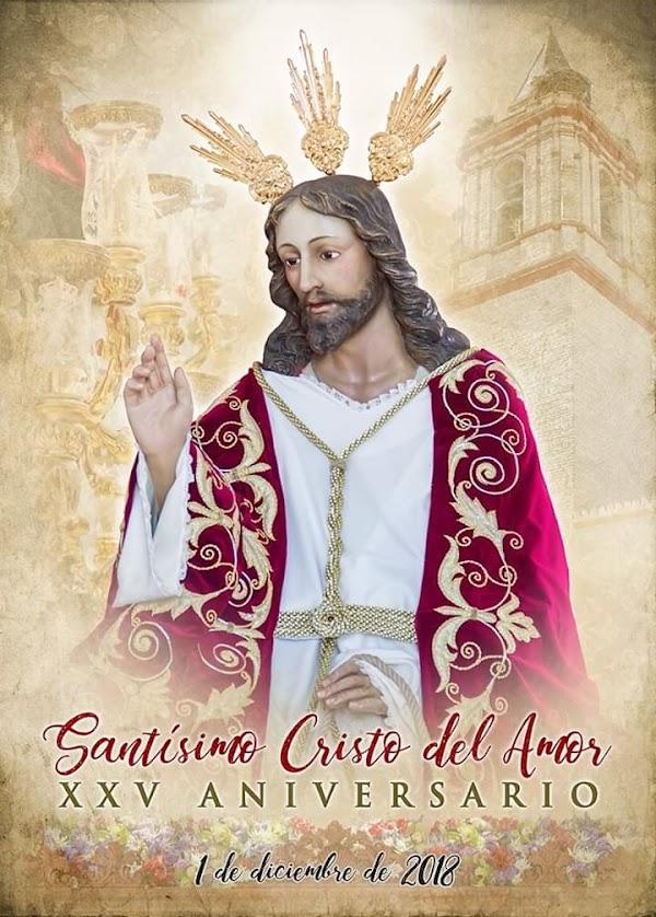 Cartel de la procesión extraordinaria del Stmo. Cristo del Amor de Huévar del Aljarafe.