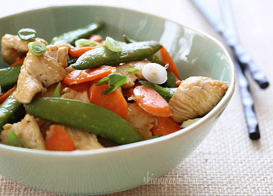 Paleo Chicken and Snow Peas