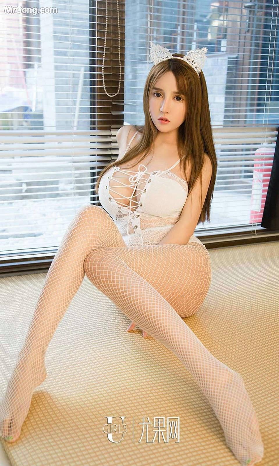 Image UGIRLS-Ai-You-Wu-App-No.1327-Bai-Yi-Han-MrCong.com-011 in post UGIRLS – Ai You Wu App No.1327: Người mẫu Bai Yi Han (白一晗) (35 ảnh)