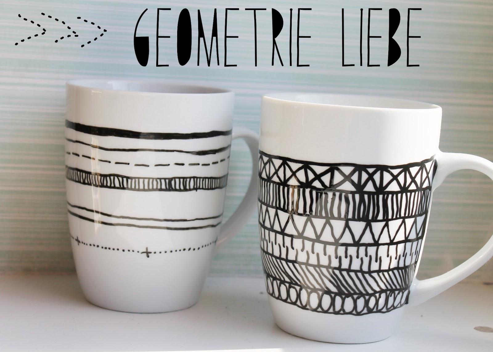 charlottenmarotten diy geometrische tassen. Black Bedroom Furniture Sets. Home Design Ideas