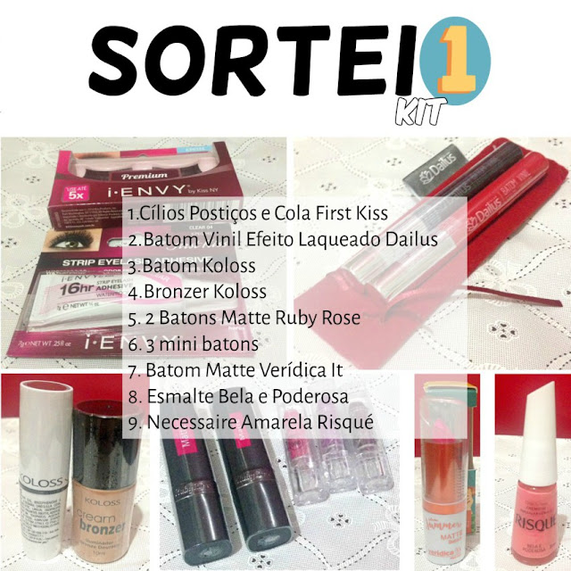 Sorteio no Instagram: 2 kits e brinde surpresa