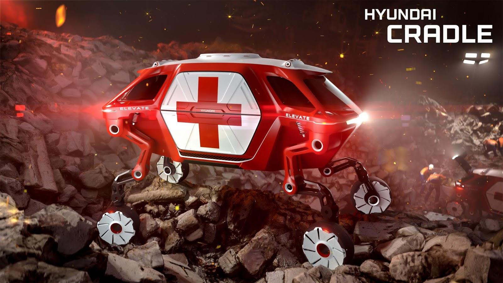 Hyundai presenta el'Elevate Walking Car Concept como respondedor en CES 2019