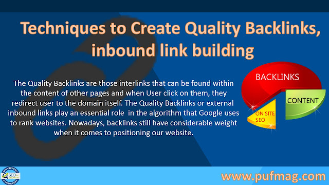Techniques to Create Quality Backlinks, inbound link building