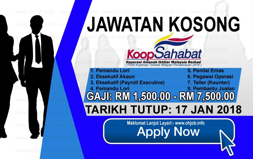 Jawatan Kerja Kosong Koperasi Sahabat Amanah Ikhtiar Malaysia Berhad logo www.ohjob.info januari 2018
