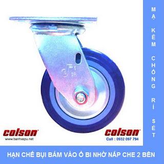 Bánh xe đẩy hàng nhựa PU 150 chịu lực 370kg | S4-6209-925P www.banhxepu.net
