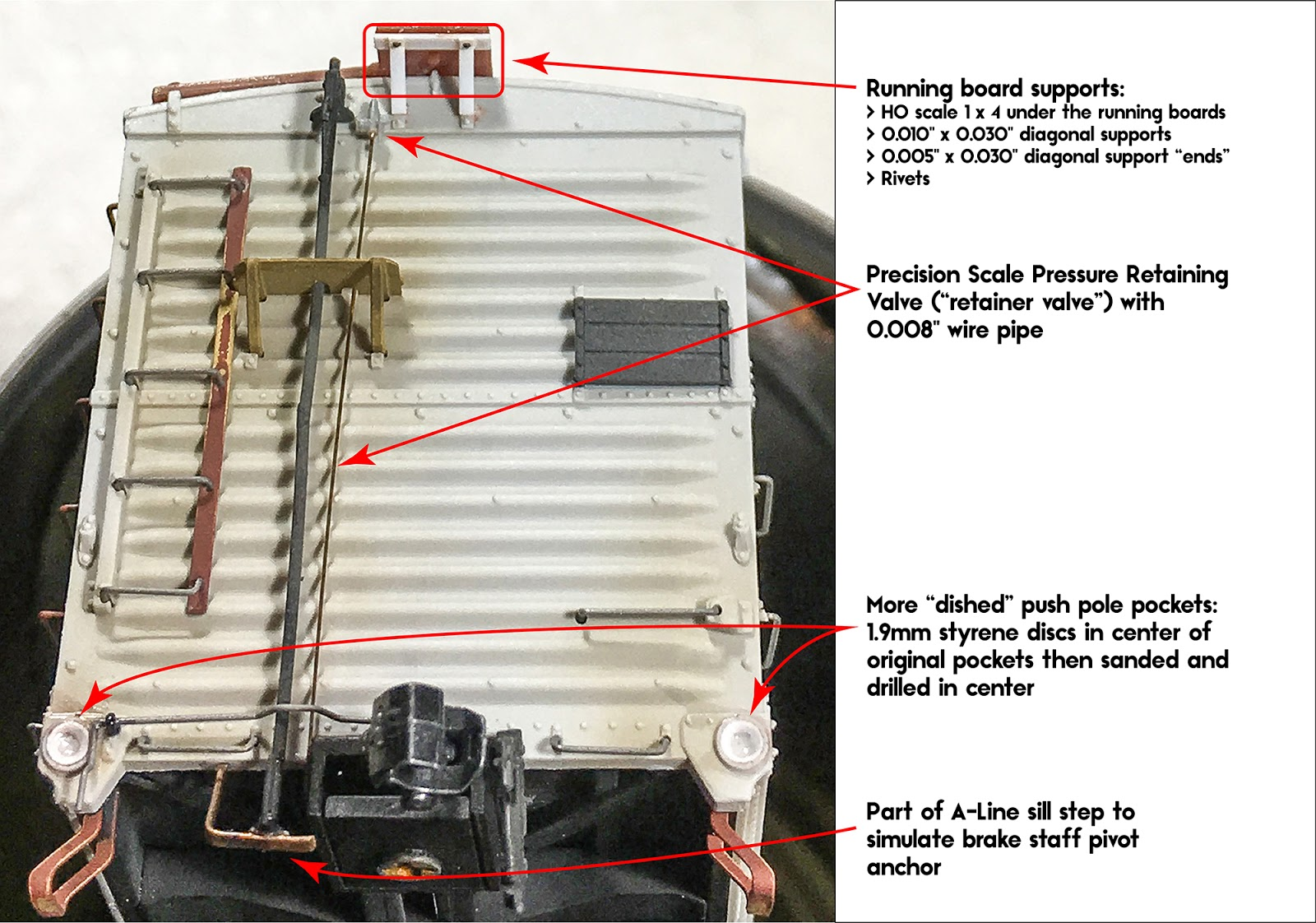 Prototype Railroad Topics 2018 Wiring Running Board Most Of The Upgrades Were Performed On Ends With Majority Those Specifically B End I Replaced Supports Styrene To