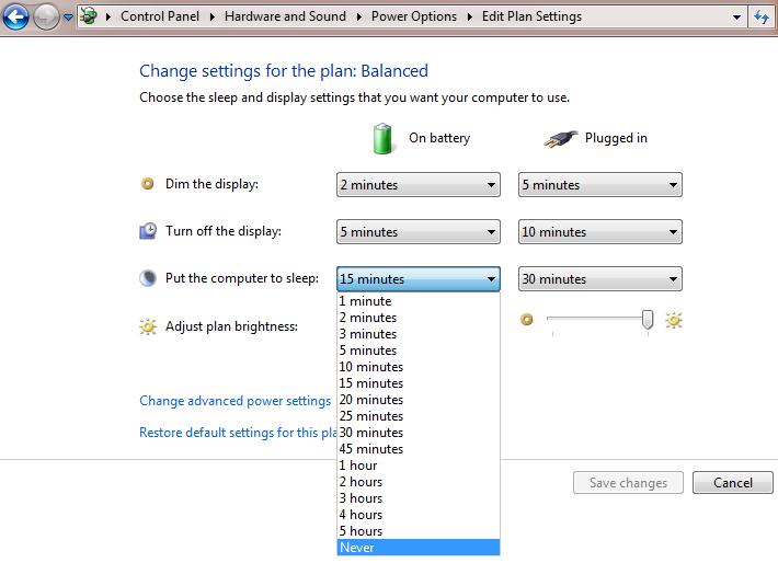 Cara Agar Komputer Tidak Mengalami Sleep Saat Proses Download Berlangsung