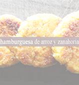 Hamburguesas de arroz y zanahoria