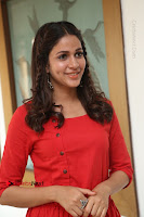 Actress Lavanya Tripathi Latest Pos in Red Dress at Radha Movie Success Meet .COM 0173.JPG