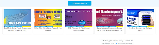 Widget Post Popular Di Atas Footer