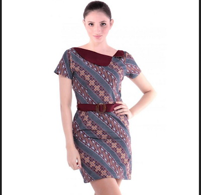 mini dress batik terbaru