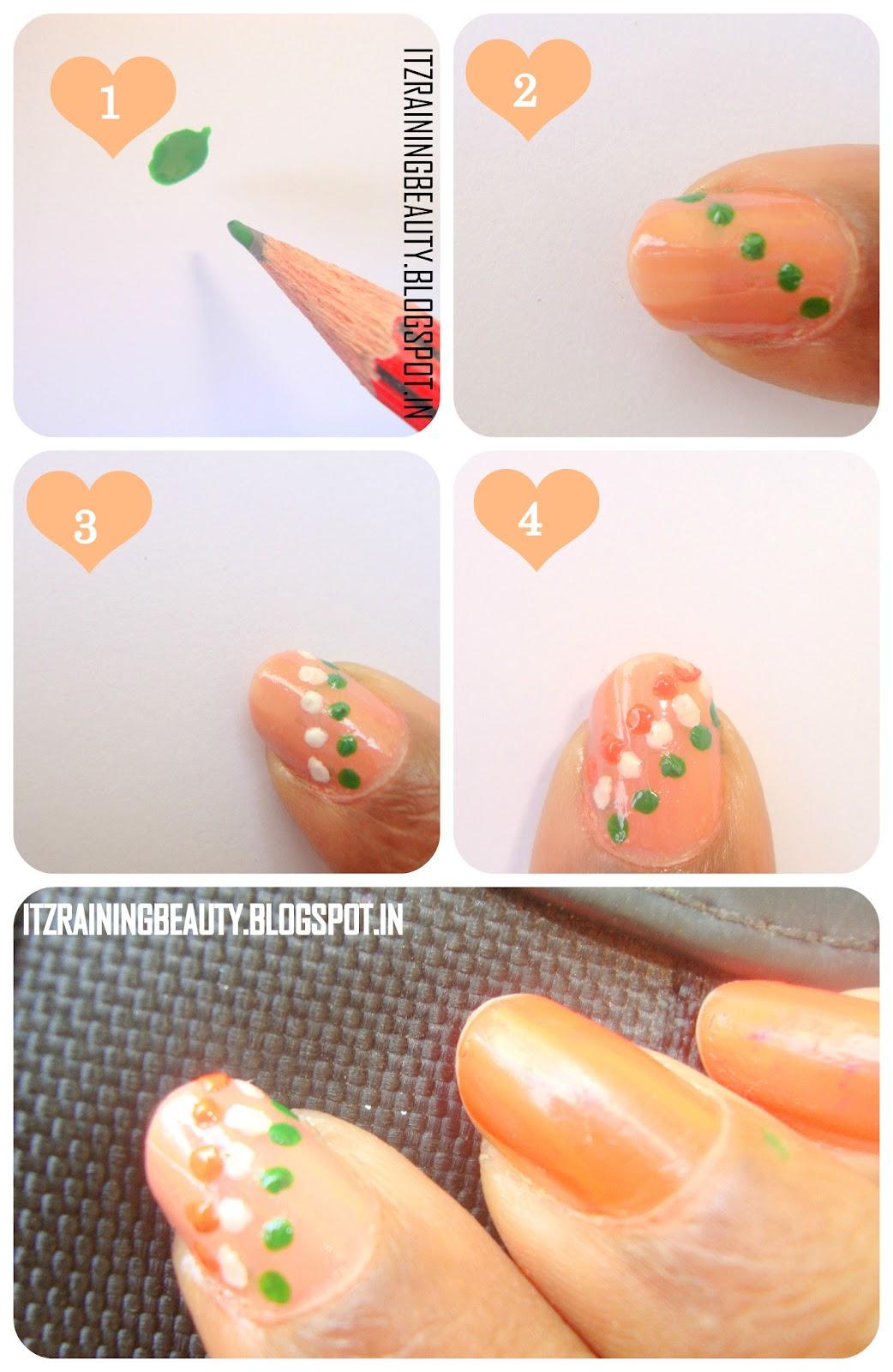indian flag step by step nailart  4  jpgSimple Nail Art Step By Step